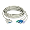 Coax CPU Cable with DDC Support for ServSwitch CAT5 KVM Extenders